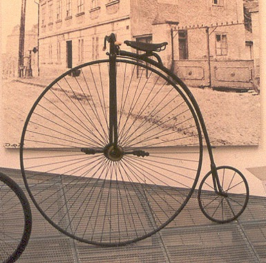 old school bicycle, penny farthing