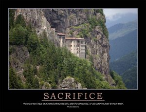 sacrifice poster of mountain