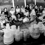 women at a tupperware home party