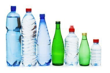different shapes, sizes and colours of water bottles