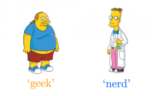 geek and nerd in the Simpsons