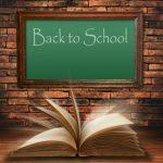 blackboard and textbook