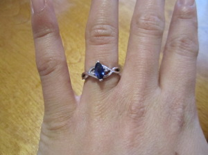 wedding sapphire engagement ring