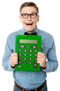 A calculator as a personal finance gift idea