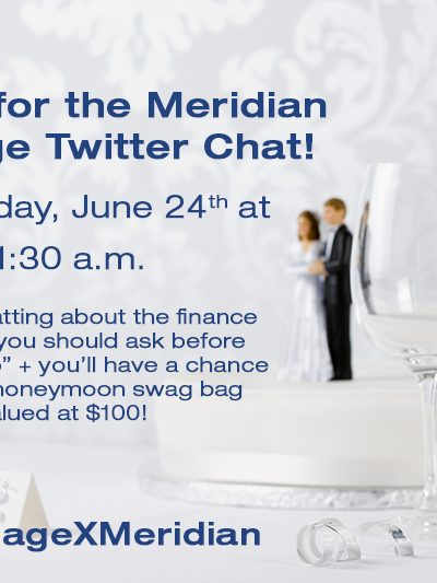 Marriage Twitter Chat with Meridian Credit Union!