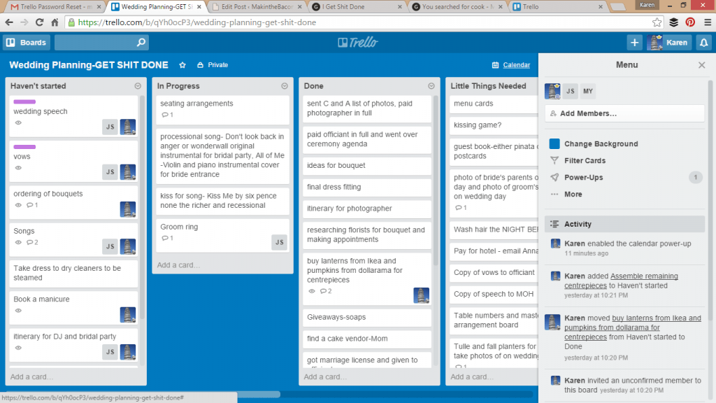 get shit done with a trello board