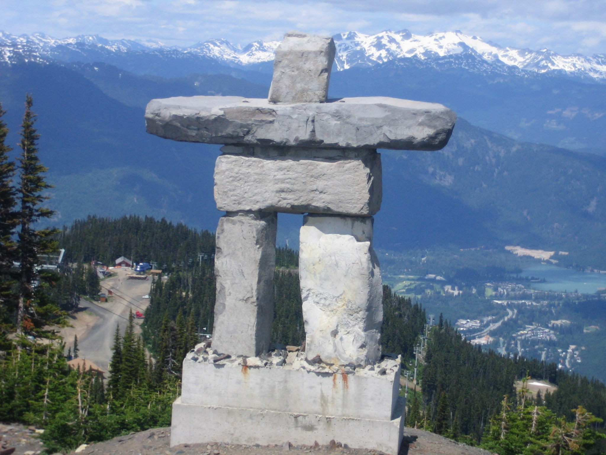 This rock statue at Whistler demonstrates the concept of balance very well