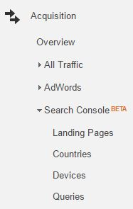 Screenshot for search queries category