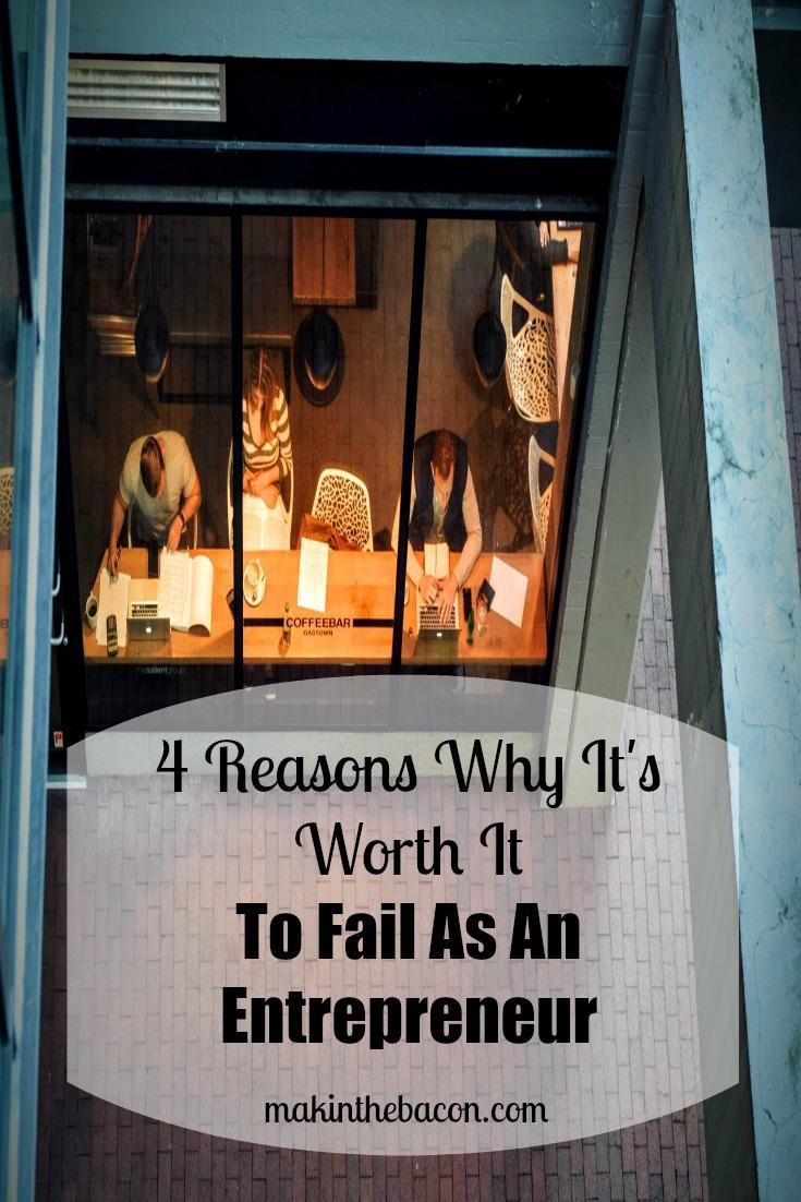 you learn a lot when you fail as an entrepreneur