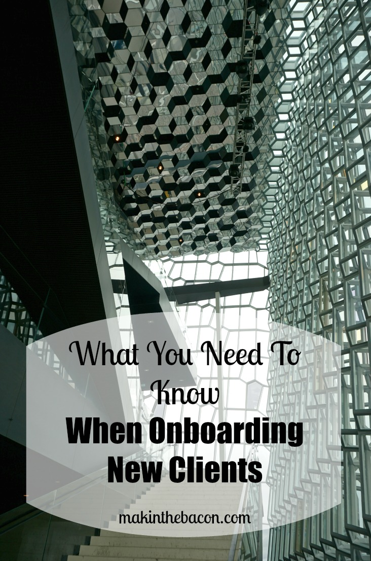 onboarding and courting process for new clients