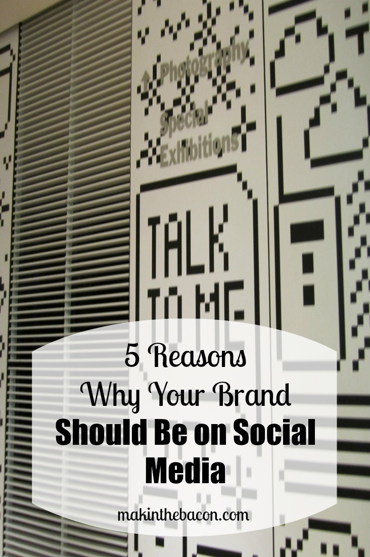 having your brand on social media can provide numerous benefits such as being able to get feedback from consumers