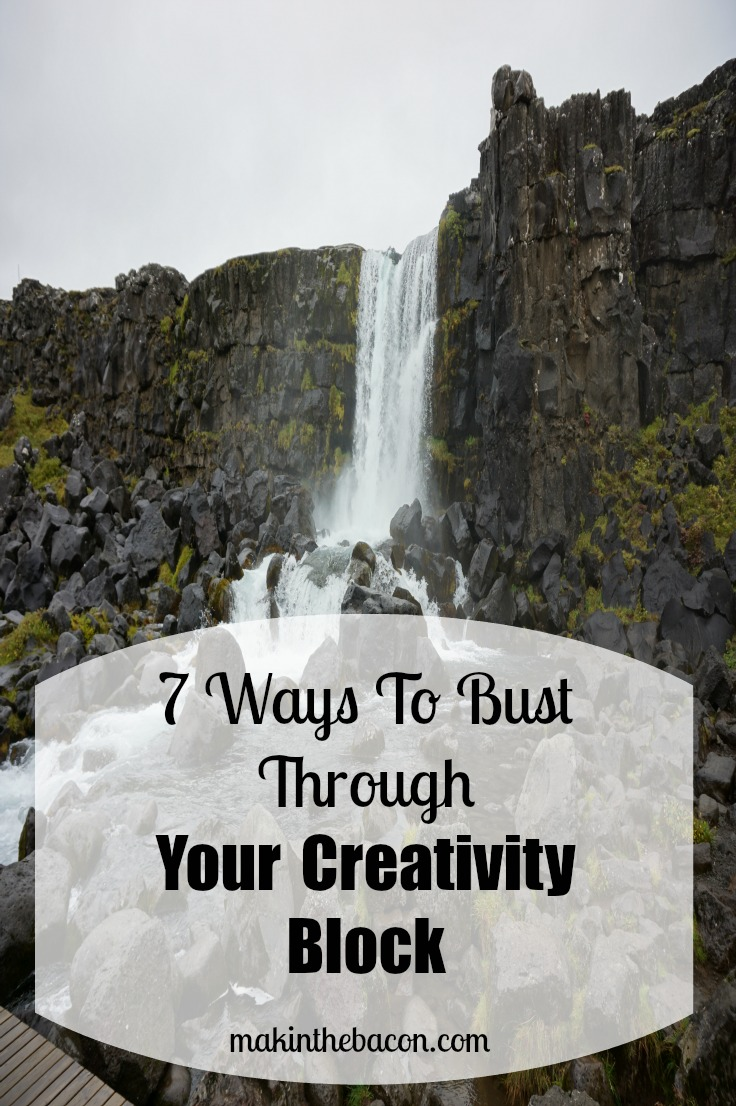 creativity blocks happen now and again and it's important to bust through them