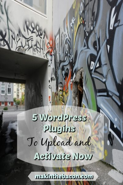 5  WordPress Plugins To Upload And Activate