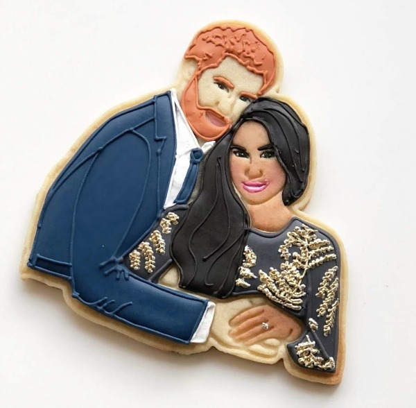 Prince Harry and Megan Markle cookie