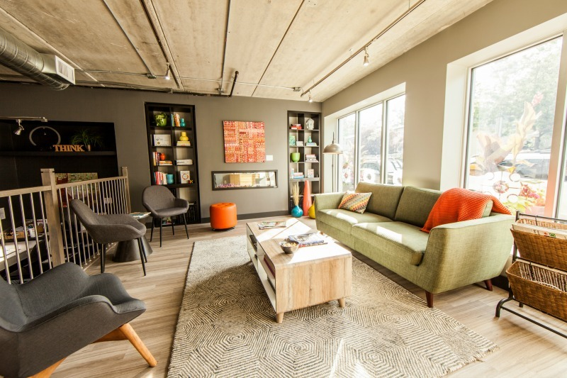 Ace Coworking lounge in downtown Oakville