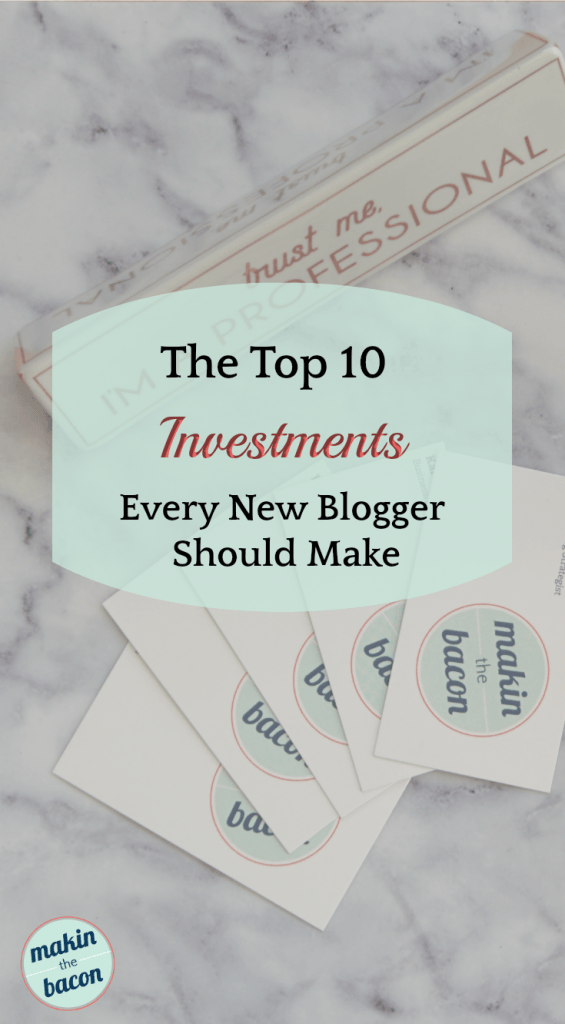blog investments every new blogger should make