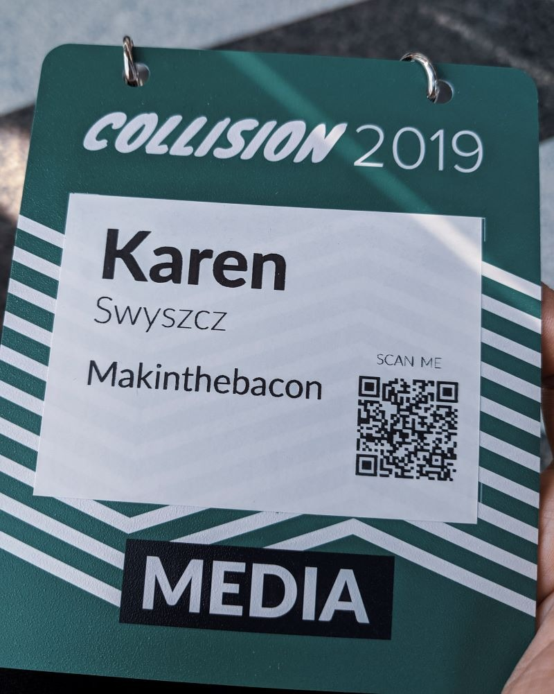 media pass for Collision Conference 2019 Toronto