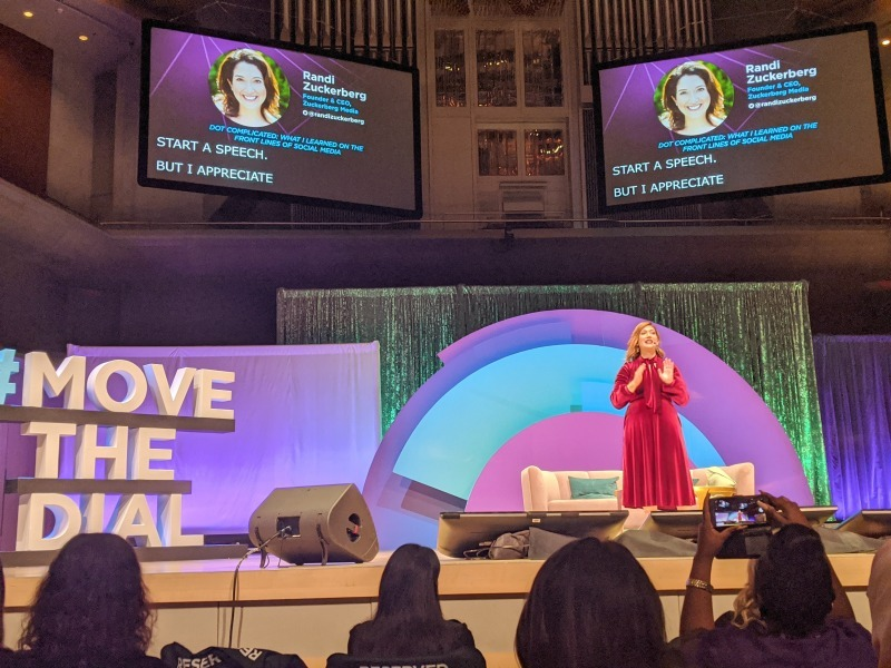 Randi Zuckerberg, founder of Zuckerberg Media, speaking at Move The Dial Summit