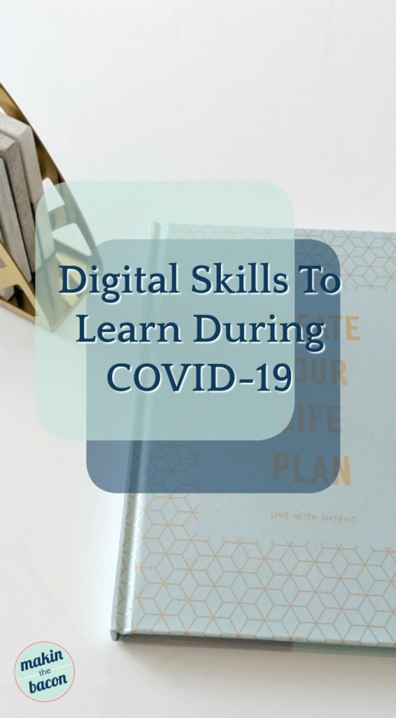 Pinterest image for the types of digital skills you can learn online during the COVID-19 outbreak