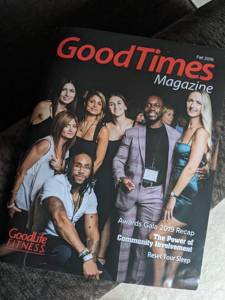 Issue of Fall 2019 GoodTimes Magazine with GoodLife Fitness