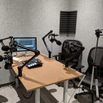 podcast recording booth at Staples Studio