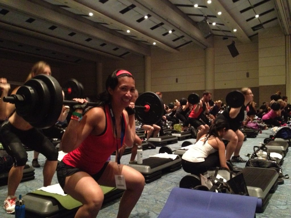Photo of Fitness To Freedom co-author, Karen Swyszcz at Can Fit Pro Conference.