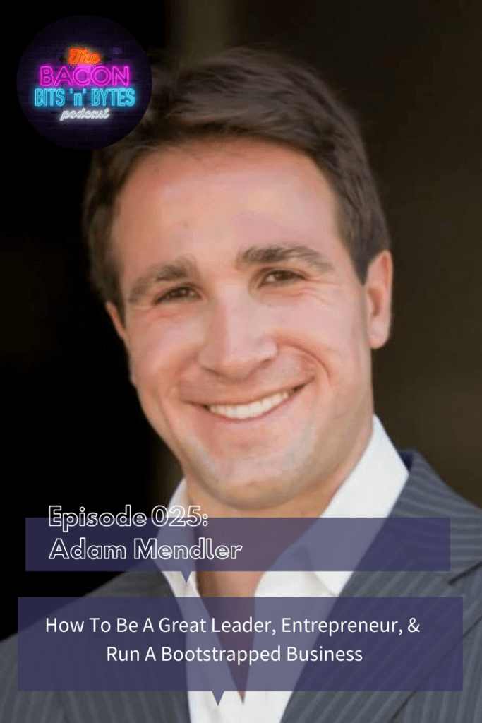 Interview with Adam Mendler, CEO of the Veloz Group. We discuss how to be a great leader, entrepreneur and how to run a bootstrapped business.