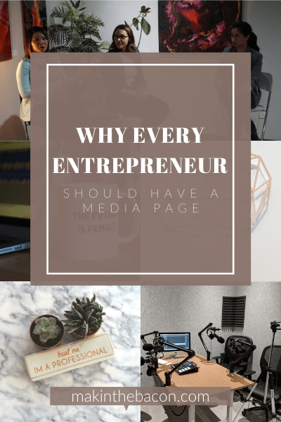 Why Every Entrepreneur Should Have a Media Page