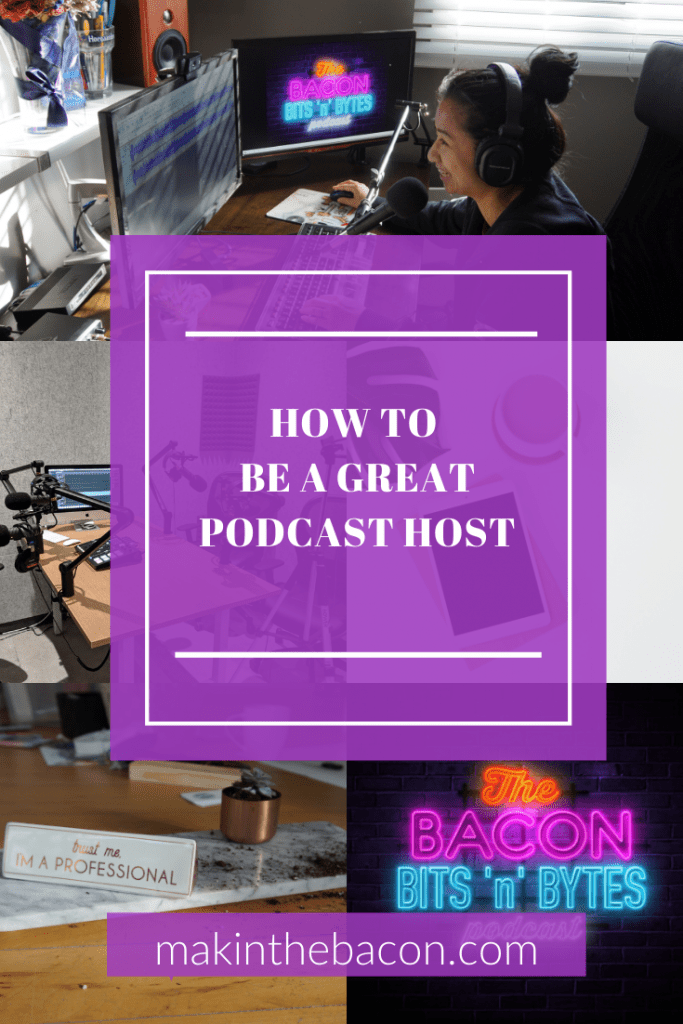 PInterest Image of How To Be a Great Podcast Host